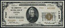 """FR1802-1 $20 1929 """"COMMERICAL NB OF TIFFIN, OHIO"""" #7795 A.U. (RARE DENOM) HW2904"""