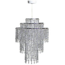 Beaded Metal Easy Fit Non Electrical Ceiling Pendant Light Shade