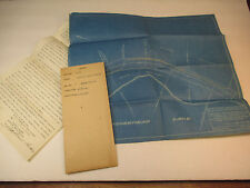 Maine Central Railroad Lease & Blueprint Taunton Rayham Maine Kineo 1916 S026