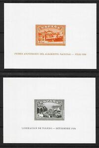 REPRINTS   Edifil 838/39 *  (Cat. €1200)   ALZAMIENTO NACIONAL SPAIN