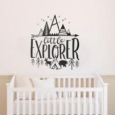 Little Explorer Wall Decals Kids Room Adventure Stickers Nursery Decor Wallpaper