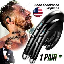 Bone Conduction Earphone Wireless Bluetooth 5.0 Headphone Mic Handsfree  1 PAIR*