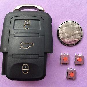 VW Golf Polo Passat Skoda Fabia Seat Leon 3 Button Remote Key Fob Repair Kit