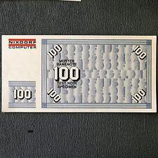 100 DM pattern BANCONOTA test Note specimen Money Nixdorf Computer 8864-SERIE 1975
