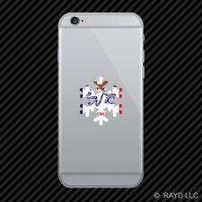 Iowa Snowflake Cell Phone Sticker Mobile IA snow flake snowboard skiing skii