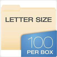 "Pendaflex File Folders, Letter Size, 8-1/2"" x 11"", Classic Manila, 100 Count Box"