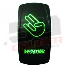 The Shocker Green LED Switch Car Truck Boat SUV Sand Rail Outdoor 24 Volt 20 AMP