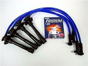 VMS 93-97 TOYOTA COROLLA 10.2MM SPARK PLUG WIRES NGK IRIDIUM IX PLUGS COMBO BLUE