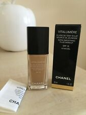 CHANEL VITALUMIERE SATIN SMOOTHING FLUID MAKE UP FOUNDATION  50 NATURAL 30ML NEW
