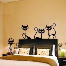 Removable Vinyl Wall Sticker Black Cat Stickers Living Room Child Bedroom Decor