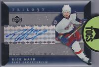 Rick Nash 2005-06 NHL Trilogy Scripts Two Signature Card Columbus Blue Jackets