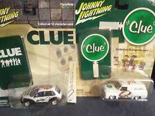 Johnny Lightning Clue 1955 Ford van, 2001 Pt Cruiser JL023 vintage and modern