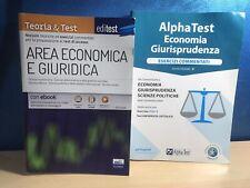 Libri preparazione TEST ECONOMIA, GIURISPRUDENZA,SCIENZE POLITICHE Edi-AlphaTest