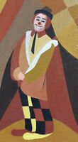 Moderno Dipinto Pagliaccio - Arlecchino Autografato E.Bani-Sieg