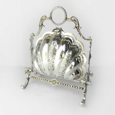 Victorian Silverplated Scallop Shell Biscuit Box