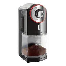 Melitta Molino Schwarz-Rot Kaffeemühle einstellbarer Mahlgrad 100 Watt