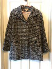 Katherine Kelley Alpaca Wool Womens Walking Coat Gray Hues Size 10