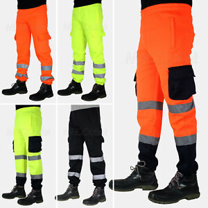 Hi Vis Trousers High Visibility Bottoms Workwear reflective Tape Safety Pants