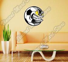 "Angry Smile Football Ball Soccer Kick Wall Sticker Room Interior Decor 22""X22"""