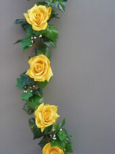 8FT!!! Artificial Ivy & Yellow Roses Garland Wedding/Festival Decoration