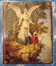 Eisen Schild Schutz Engel Wandschild Eisen Blech aus alten Geschenke Beständen