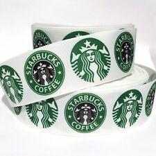 "Grosgrain Ribbon 5/8"", 7/8"",1.5"", 3"" Starbucks Coffee Combine Shipping Us Seller"
