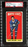 1964-1965 Topps Hockey #69 GEORGE ARMSTRONG Toronto Maple Leafs PSA 6 EX-MT