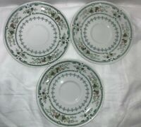 *Royal Doulton Provencal Fine China Made in England Lot of 3 saucers