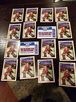 Patrick Roy 1988-89 Topps Hockey Sticker Insert 16 Card LOT #12  Canadiens
