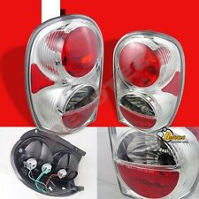 2002-2006 Jeep Liberty Chrome Tail Lights Lamps 1 Pair 03 04 05