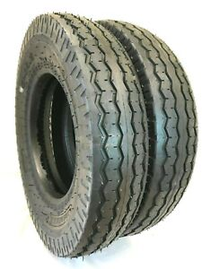 2- 8-14.5 14PLY Heavy Duty Trailer Tires Set of Two 8x14.5  LPT Tubeless Tires