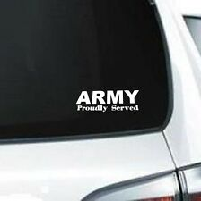 B147 Army Proudly Served sticker wall door decal