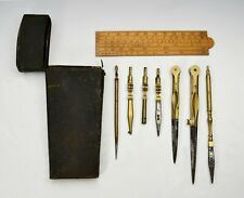 Early Shagreen Cased Drawing Instruments Signed Benjamin Cole, Circa 1750