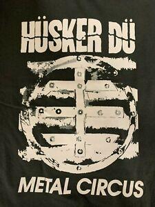 Husker Du Metal Circus Charcoal Gray T-Shirt *Brand New* +Bonuses *Unique*