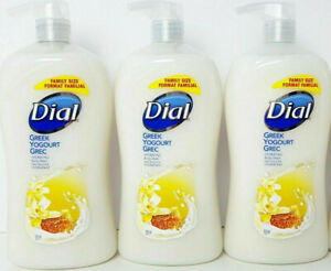 Lot of 3 Dial Body Wash Greek Yogurt Vanilla Honey 32 oz pump discontinued