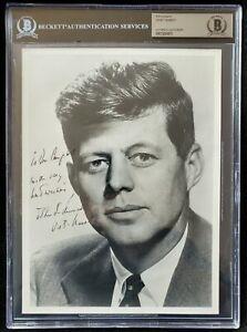 JOHN F. KENNEDY PRESIDENT SIGNED AUTOGRAPH PHOTO BECKETT BAS AUTHENTIC!