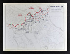 West Point WWII Map Italy Operations Spring Offensive Battle of Bologna Argenta