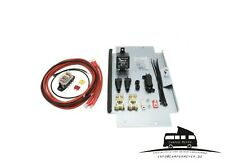 2.Batterie Montagesatz VW T5 T6 / Zweitbatterie Nachrüstsatz Trennrelais Camper