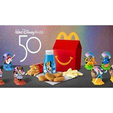 2021 McDonald's Walt Disney World 50th Anniversary  Indv. or Set  Drop Down Menu