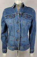 Women's EDDIE BAUER 20 Vintage blue denim fitted JACKET Minimal Wear small