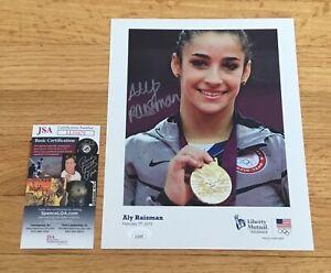 Aly Raisman USA Gymnastics 3X Gold Medal Signed Autograph 8x10 Photo JSA COA