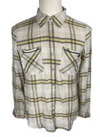 Harley Davidson Unisex Mens Long Sleeve Plaid Button Up Shirt Sz Large