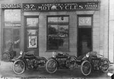 "Vintage Motorcycle Shop  8 x 10""  Photo Print"