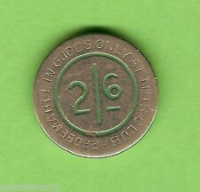 #D176. CHARLES SHELLEY  TWO SHILLINGS & SIXPENCE  STEEL  TOKEN