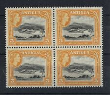 More details for antigua 1953 definitives sg123a 3c block of 4 mnh