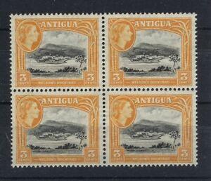 ANTIGUA 1953 DEFINITIVES SG123a 3c BLOCK OF 4 MNH