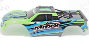 1/10 MAXX BODY cover Shell (GREEN Painted ProGraphics, clipless Traxxas 89076-4