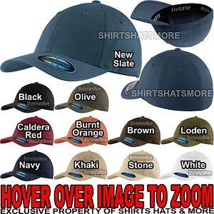 Flexfit Garment Washed Hat Twill FITTED CAP Sport Baseball S/M, L/XL NEW