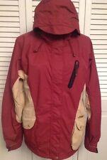 WESTBEACH Women's M Ski Snowboard Jacket $230 Red Gilet Brick Tan Whistle Gold