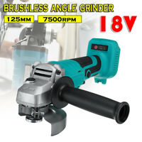 For Makita 18V Li-ion 125mm Cordless Brushless Cordless Angle Grinder Tools Bare